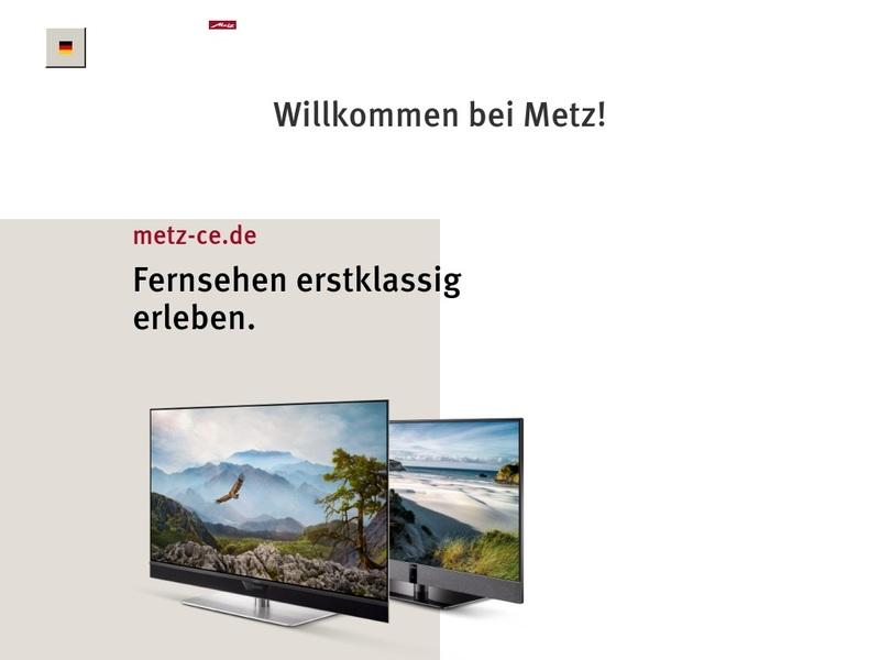 Screenshot von https://www.Metz.de